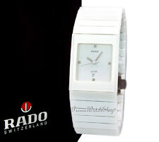 Brand New Rado Ceramica Jubile R21711702 Men's Diamond / White Ceramic Watch