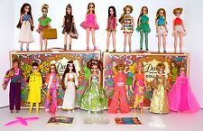 Vintage Topper Dawn & Her Friends Doll Lot 18 Dolls 2 Cases Boots Shoes! Lot #9