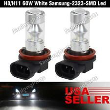 H8 H11 High Power 60W Samsung LED Fog Driving Light Bulbs 2PCS