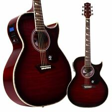 Lindo ORG Regular Body Electro Acoustic Guitar with Preamp LCD Tuner & Gigbag