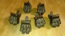 Set of 6 Antique Claw Paw Feet Architectural Accent - metal table desk furniture