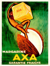 Axa Margarine by Leonetto Cappiello Vintage French Poster A1+ Art Print