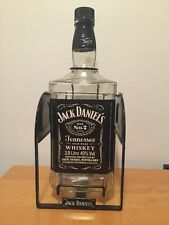 Jack Daniels 3 liter bottle swing empty used rare litre whiskey old No 7 large