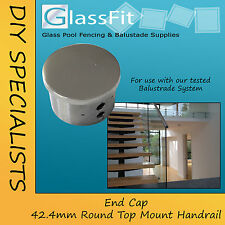 Balustrade - End Cap Round Handrail Component - 316L Mirror Stainless Steel