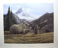 Glenn OLSON MT. Assiniboine LTD art print mint COA Grizzly Bear Family