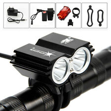 SolarStorm 5000Lm 2x CREE XM-L U2 LED Head Bicycle Bike HeadLight Light 12000mAh