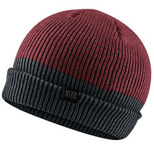 NEW Nike Two Tone Beanie Red / Black 547765-677 Cap Running Skateboard Unisex