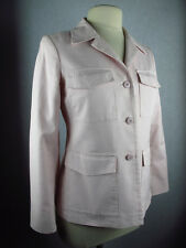 AGNES B. PARIS PINK COTTON MIX 3 BUTTON 4 POCKET BLAZER JACKET SZ 40