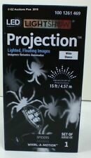 Gemmy Lightshow Haloween PROJECTION WHITE LED SPIDERS Lighted, Floating Images
