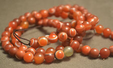 Energy Tibetan Red Agate Heaven Eye dZi Bead 108 Mala Prayer Totem Necklace 86CM