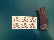 AR Magazine Sticker 6 Pack, TRADITIONAL CALICO JACK, Navy Seals, AR 15, GREY!