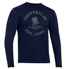 Under Armour Wounded Warrior Project WWP Tactical Long Sleeve Shirt Tee Navy XL