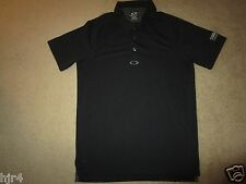 Oakley Hydrolix Black Golf Polo Shirt M Medium
