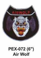 "AIR WOLF Embroidered Military Extra Large Patch (6"")"
