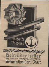 SCHMALKALDEN, Werbung / Anzeige 1940, Fabrik für Hartmetall Werkzeuge