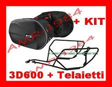 BORSE LATERALI 3D600 + TELAIO TE2110 YAMAHA XJ6 600 09 -2013 + KIT 2110KIT