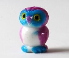 Gufetto in Alabastro dipinto a mano Vintage Alabaster Owl Talisman Made in Italy