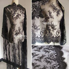 Lace Fabric Trim Retro Tulle Embroidery Rose Floral  Wedding Fabric 43