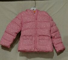 girls gymboree cozy fairytale hooded puffer coat size 4 nwt