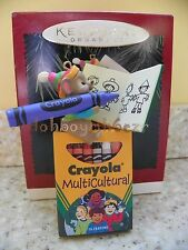 Hallmark 1995 Colorful World Crayola Crayon Multicultural Christmas Ornament