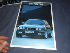 1986 BMW 730i 735i 735iL Original Color Brochure Prospekt