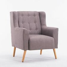 SPARE REPAIR Linen Fabric Tub Chair Armchair Dining Living Room Lounge TC05 Grey