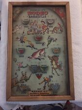 Poosh-M-Ups Rodeo Bagatelle Antique Pinball Game With Balls