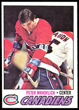 1977 78 OPC O PEE CHEE #205 PETER MAHOVLICH NM MONTREAL CANADIENS HOCKEY CARD