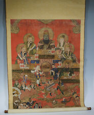 Rare Chinese 19th, c. Qing Dynasty Religious Paintings on Silk
