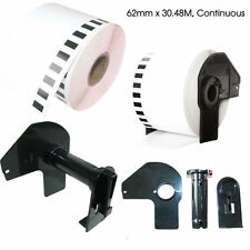 10X Brother Compatible DK22205 Printer Labels 62mm x30.48M Continuous Roll+Spool