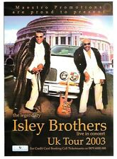 ISLEY BROTHERS 2003 UK FLYER / mini Poster 8x6""