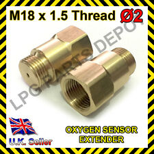 Lambda O2 Oxygen Sensor Extender Spacer for De-cat & Hydrogen M18 x D2 BRASS