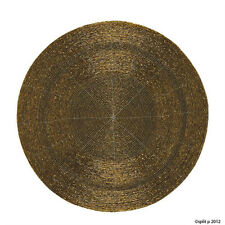Beaded Round Bronze Placemat