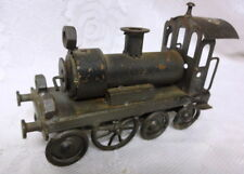 Vintage Steel Steam Engine Locomotive and Tender Toy Train