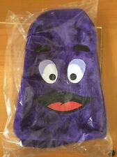 McDonald's Grimace Novelty 1995 Backpack RARE Fuzzy Face Adjustable Straps NEW
