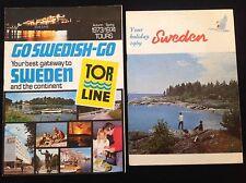 HOLIDAY BROCHURE TRAVEL SWEDEN TOR LINE 1960-70