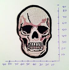 Skull Iron On/Sew On Patch/Badge Embroidered Fancy Dress #82