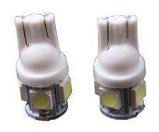2 x Bombillas 5 led SMD 5050 T10 w5w blanco  360º coche o moto 12v