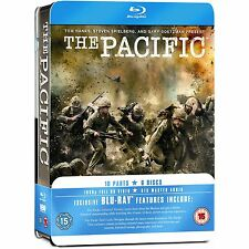 THE PACIFIC 6 BLU-RAY DISCS WORLD WAR II STEVEN SPIELBERG Complete HBO Series