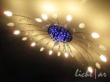"""Design Deckenleuchte """"Night Flower"""" 10/20-flg/ LED Farbwechsel mit Fernbedienung"""