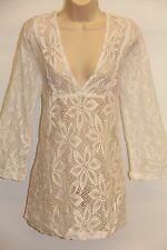 NWT J.Valdi Swimsuit Bikini Cover up Tunic Mini Dress Size XL White