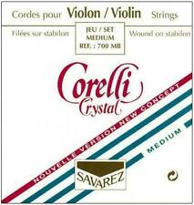 Corelli Crystal 4/4 Violin String Set: Med Gauge-Ball E