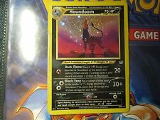 Houndoom 8/64 Rare Holo Pokemon card Neo Revelation - Heavily Played condition