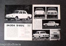 BA58 - Clipping-Ritaglio -1970- PROVE SU STRADA , SKODA S 100 L