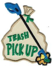 Girl Boy Cub TRASH PICK UP clean Road Patches Crests Badges SCOUT GUIDE Litter