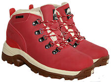 WATERPROOF WALKING/HIKING TREKKING LACE UP BOOT IN RED IN SIZE 4