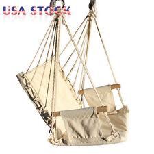 Hammock Chair Hanging Swing Outdoor Indoor Garden Patio Porch Solid Wood Frame