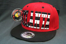 Atlanta Red Black Stars Stripes Flat Rimmed Snapback Sports Cap Hat Piranha