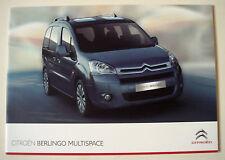 Citroen . Berlingo . Multispace . July 2011 Sales Brochure