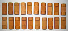 "Wooden LINCOLN LOGS Bulk Parts Lot: 20 Small Log Pieces 1.5"" Light Brown 1 Notch"